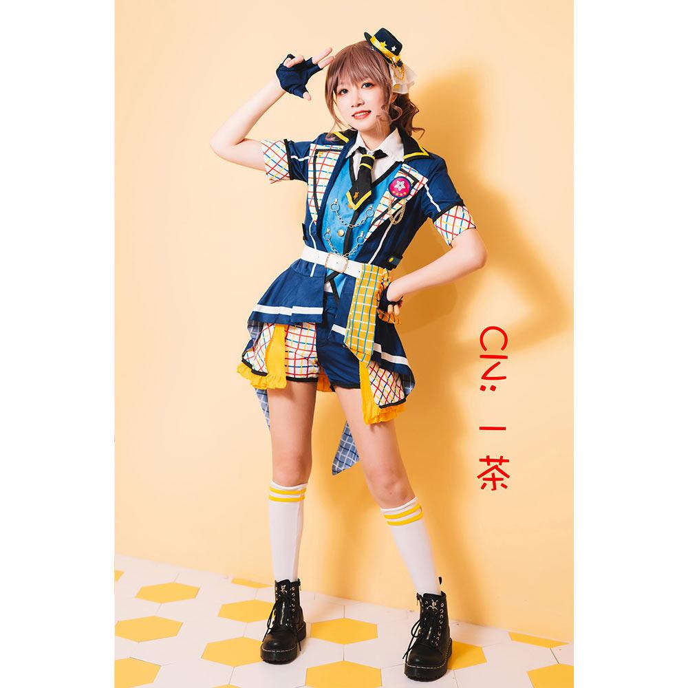 画像1: 激安!! BanG Dream!(バンドリ!) 7th☆LIVE Poppin'Party アニメ 2nd Season OP 新衣装 山吹 沙綾 コスプレ衣装 (1)
