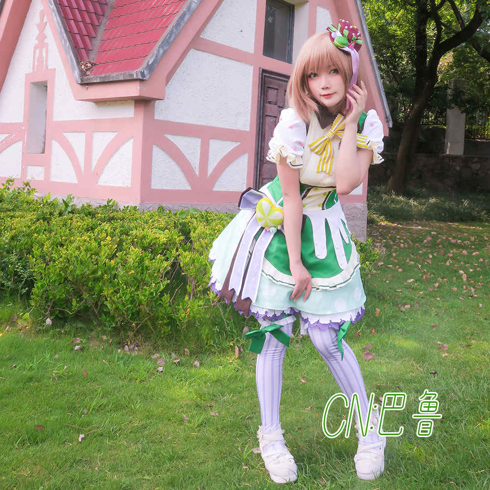 画像1: 激安!! BanG Dream!(バンドリ) Pastel*Palettes 特訓後 素顔の姿  大和 麻弥 コスプレ衣装 (1)