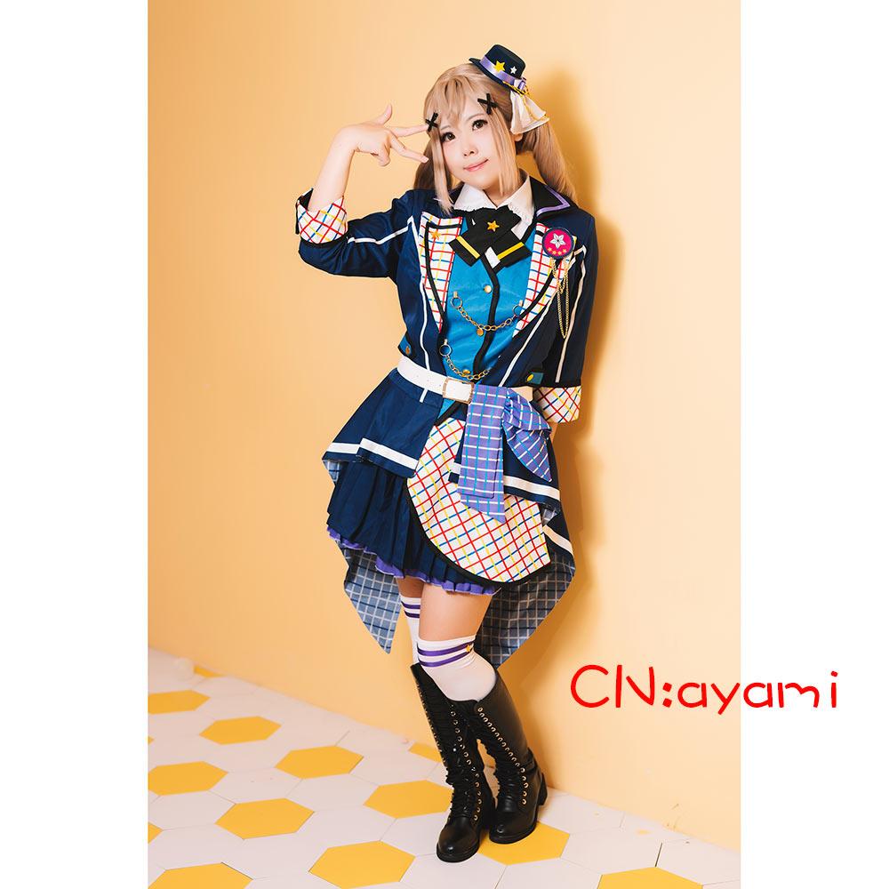 画像1: 激安!! BanG Dream!(バンドリ!) 7th☆LIVE Poppin'Party アニメ 2nd Season OP 新衣装 市ヶ谷 有咲 コスプレ衣装 (1)