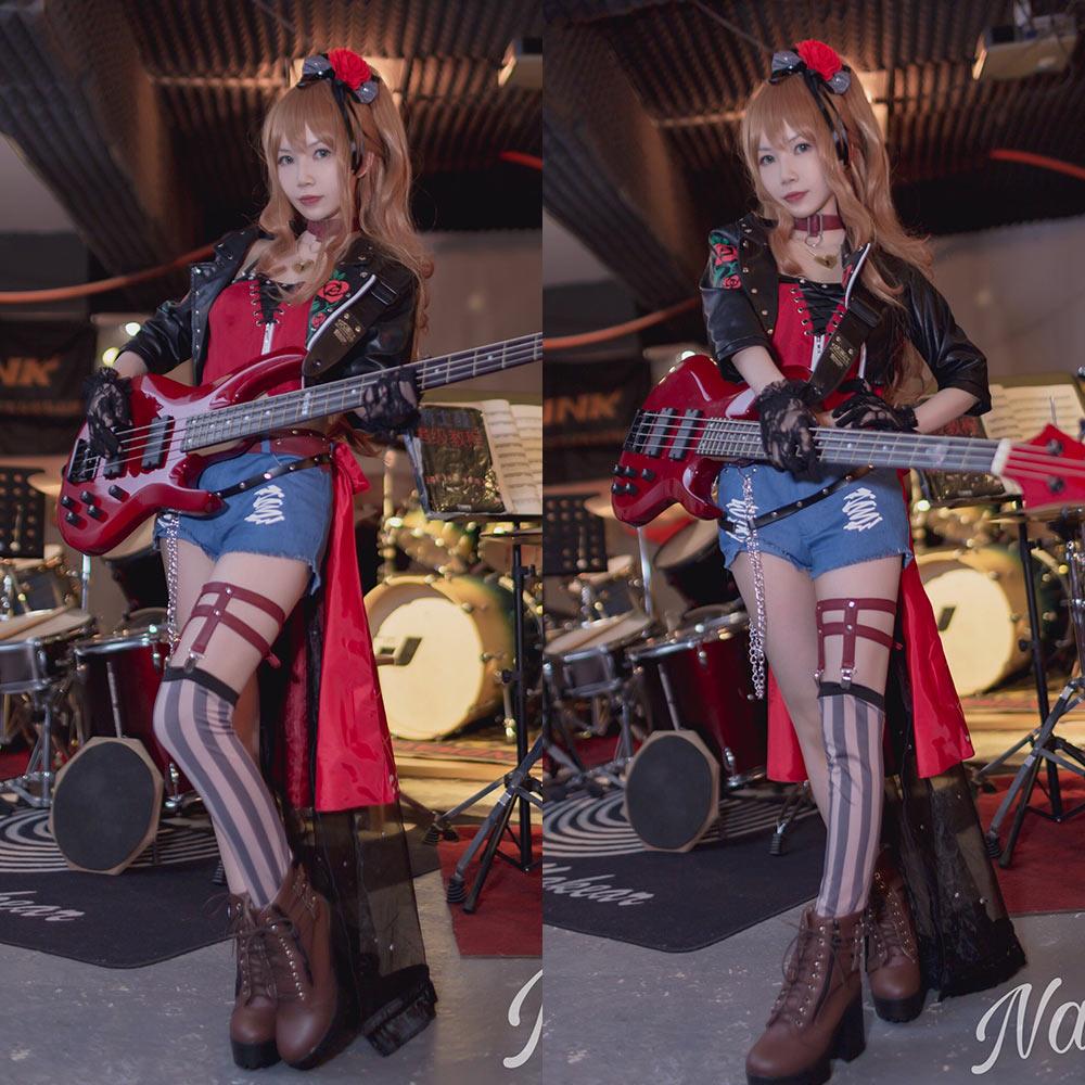 画像1: 「一部在庫」激安!! BanG Dream!(バンドリ!) Roselia 褪せぬ誇りに差す残光 versus 今井 リサ  コスプレ衣装 (1)