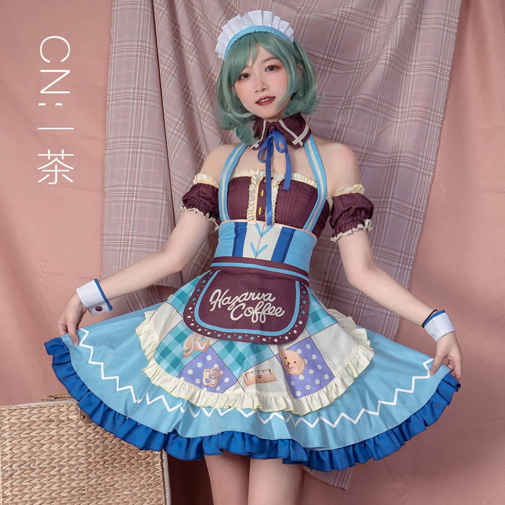 画像1: 激安!! BanG Dream!(バンドリ!) だいたい分量通り 氷川 日菜  コスプレ衣装 (1)