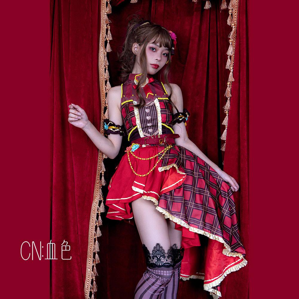 画像1: 激安!! BanG Dream!(バンドリ) ドタバタハッピーバレンタイン 今井 リサ コスプレ衣装 (1)