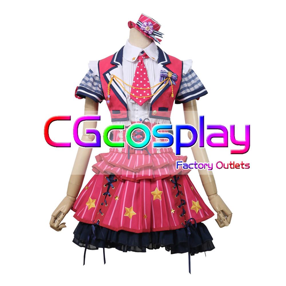 画像1: 激安!! BanG Dream!(バンドリ) Poppin'Party チアフルスター☆/2周年 市ヶ谷 有咲 コスプレ衣装 (1)