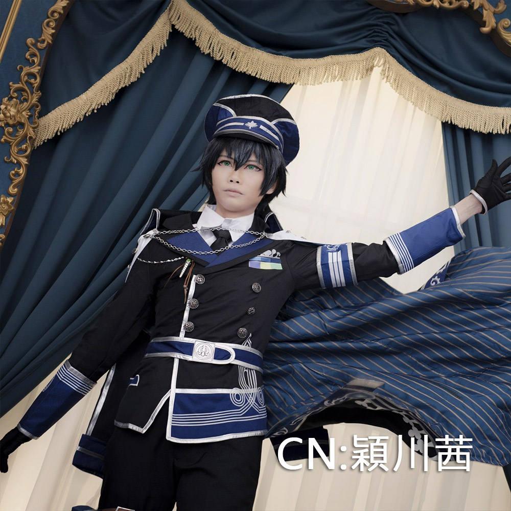 画像1: 激安!! イケメン革命 アリスと恋の魔法 黒の軍 レイ=ブラックウェル コスプレ衣装 (1)
