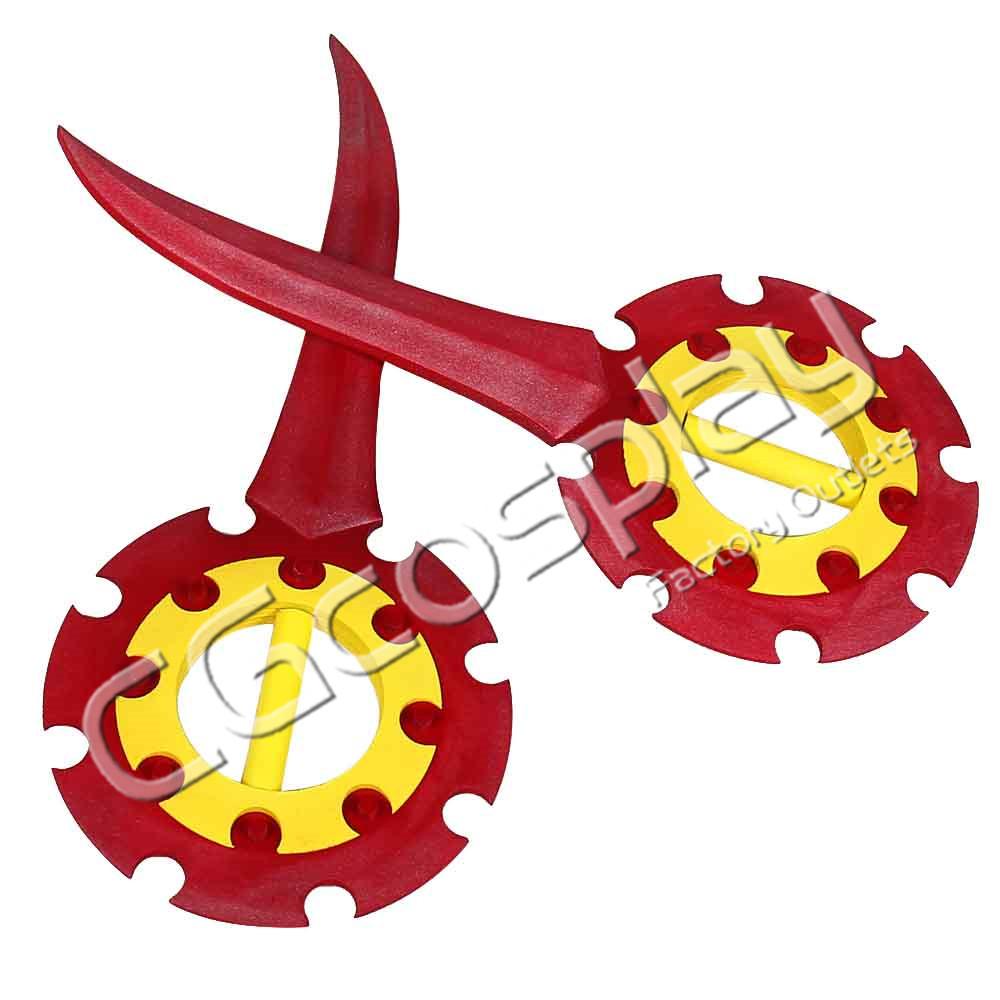 画像1: 激安!! ファイナルファンタジーX FFX Rikku リュック 武器 コスプレ道具 コスプレ衣装 (1)