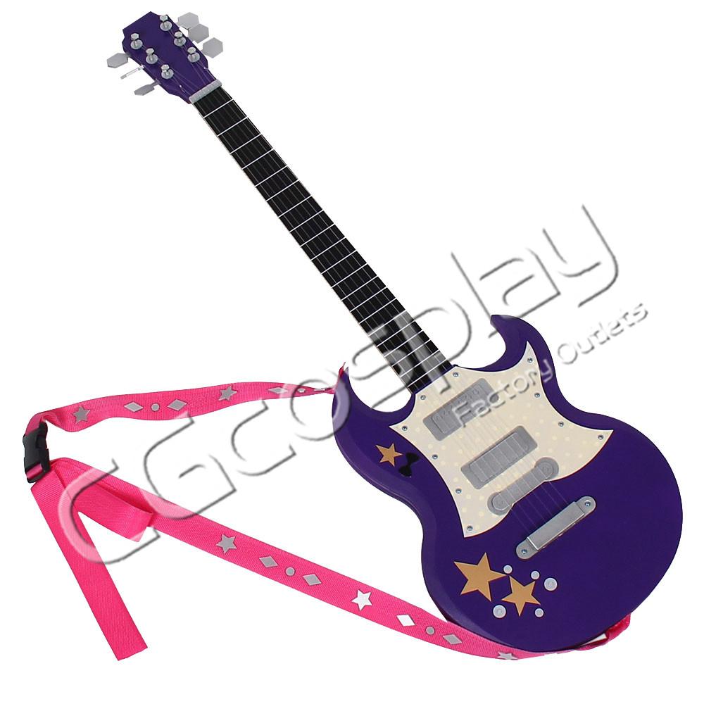 画像1: 激安!! THE iDOLM@STER SHINYCOLORS アイドルマスター シャイニーカラーズ 八宮めぐる ギター コスプレ道具 コスプレ衣装 (1)