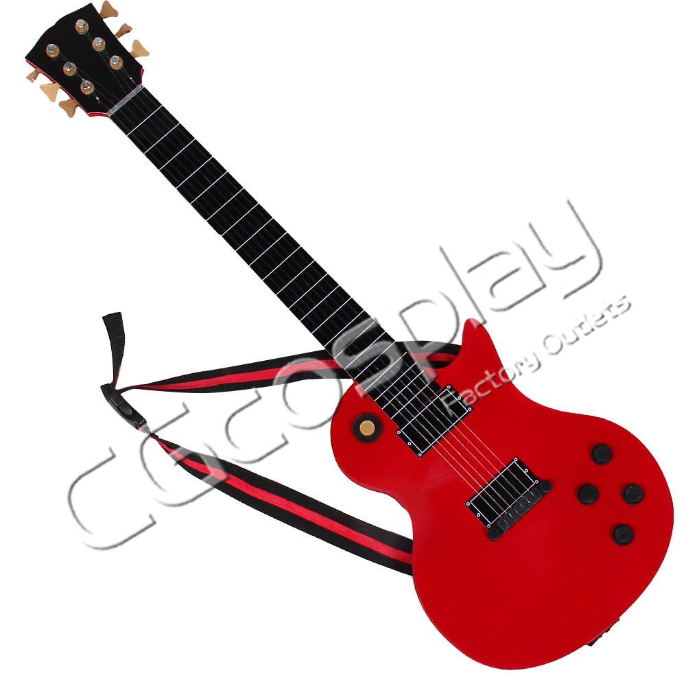 画像1: 激安!! BanG Dream! バンドリ! 美竹 蘭 ギター コスプレ道具 コスプレ衣装 (1)