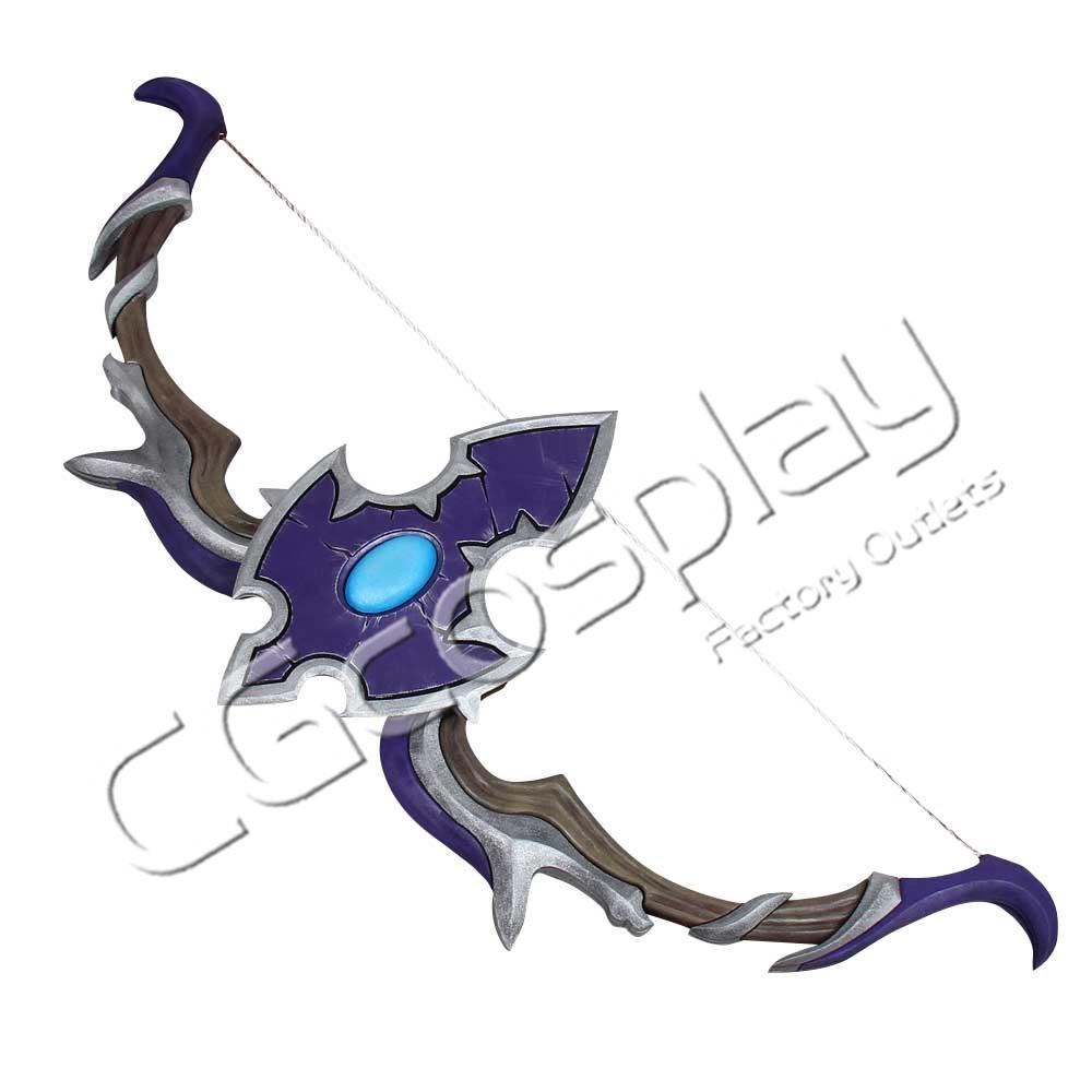 画像1: 激安!! World of Warcraft ワールド オブ ウォークラフト WoW Sylvanas Windrunner 弓 コスプレ道具 コスプレ衣装 (1)