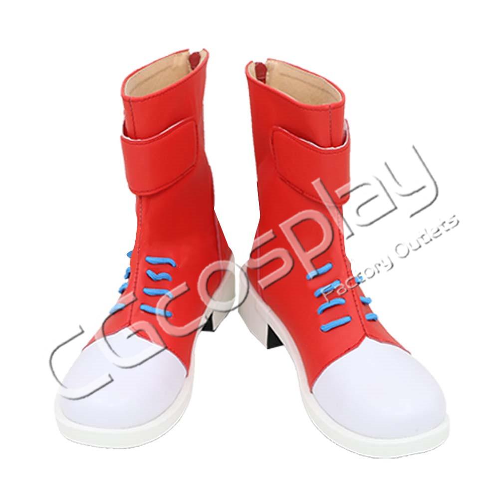 画像1: 激安!! ジョジョの奇妙な冒険 ギアッチョ コスプレ靴/ブーツ コスプレ衣装 (1)