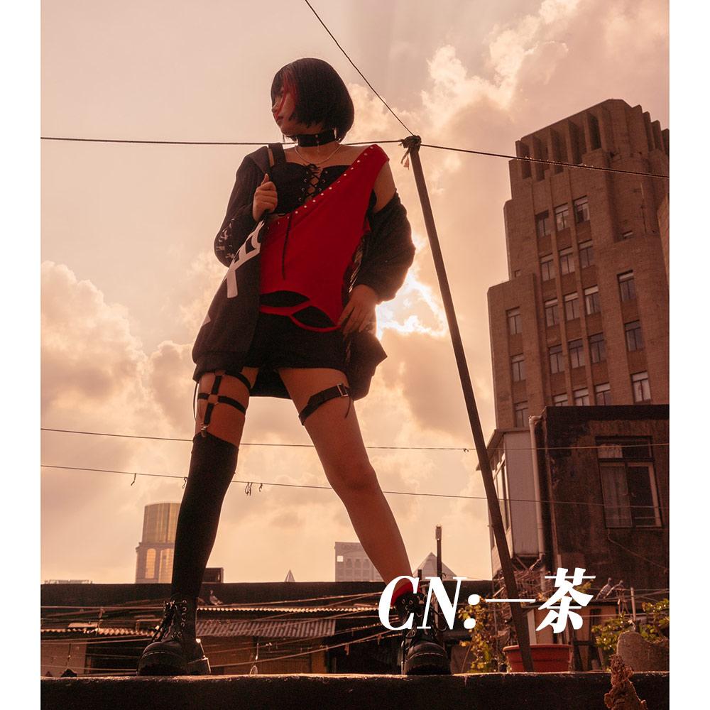 画像1: 激安!! BanG Dream!(バンドリ) Afterglow セカンドキービジュアル グロウアップロック 美竹 蘭 コスプレ衣装 (1)