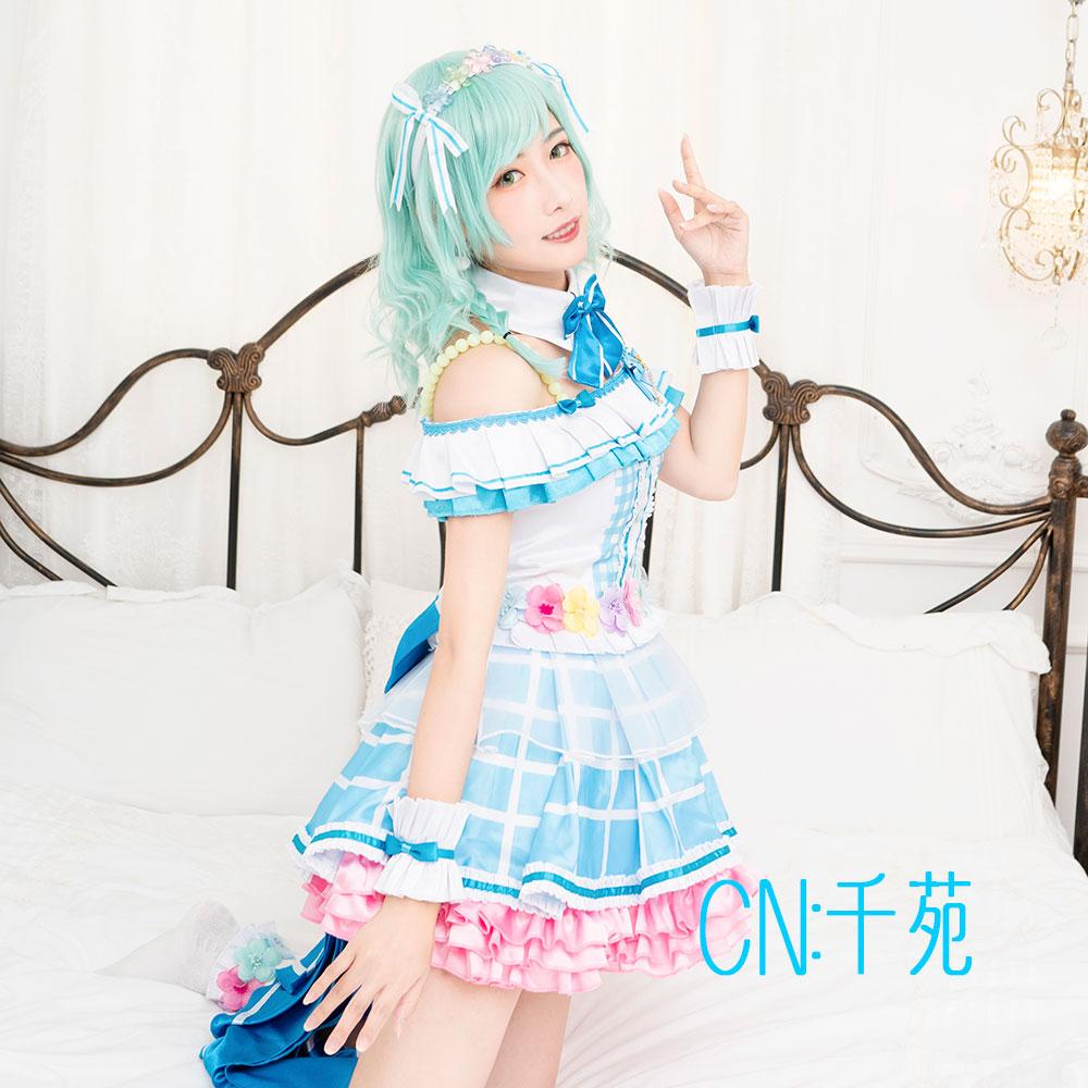 画像1: 激安!! BanG Dream!(バンドリ!) Pastel*Palettes ドリームイルミネート/2周年 氷川 日菜 コスプレ衣装 (1)