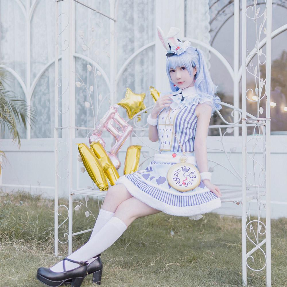 画像1: 激安!! BanG Dream!(バンドリ) ウサギ、迷走中 松原 花音 コスプレ衣装 (1)