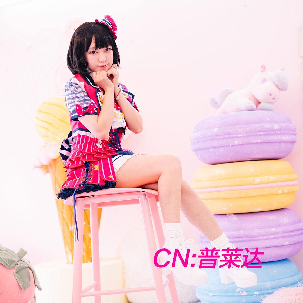 画像1: 「一部在庫」激安!! BanG Dream!(バンドリ) Poppin'Party チアフルスター☆/2周年 牛込 りみ コスプレ衣装 (1)