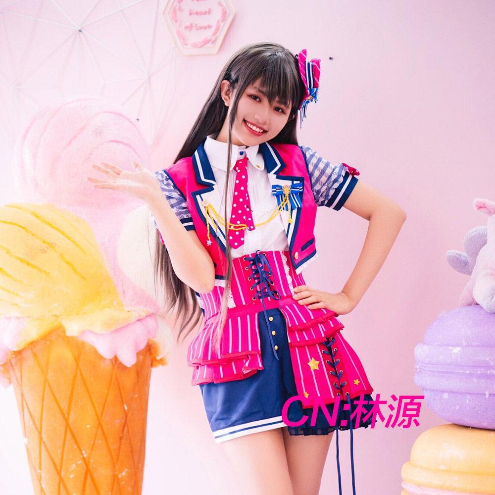 画像1: 「一部在庫」激安!! BanG Dream!(バンドリ) Poppin'Party チアフルスター☆/2周年 花園 たえ コスプレ衣装 (1)