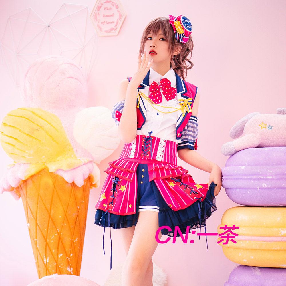 画像1: 激安!! BanG Dream!(バンドリ) Poppin'Party チアフルスター☆/2周年 山吹 沙綾 コスプレ衣装 (1)