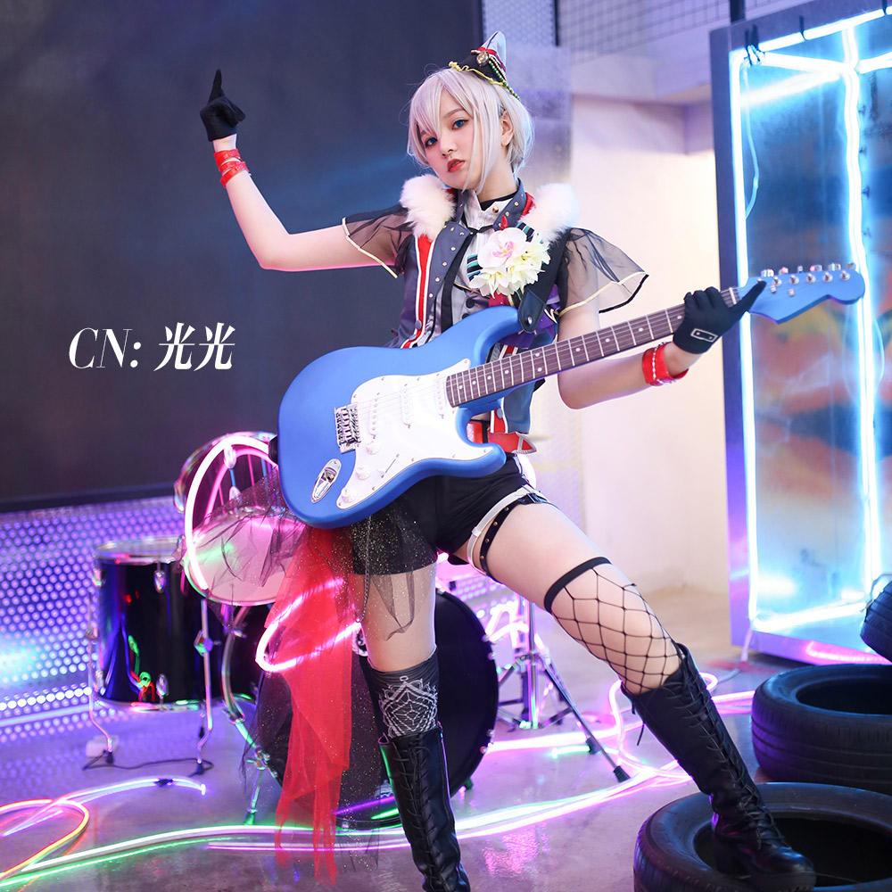画像1: 激安!! BanG Dream!(バンドリ!) Afterglow ツナグ、ソラモヨウ 青葉モカ コスプレ衣装 (1)