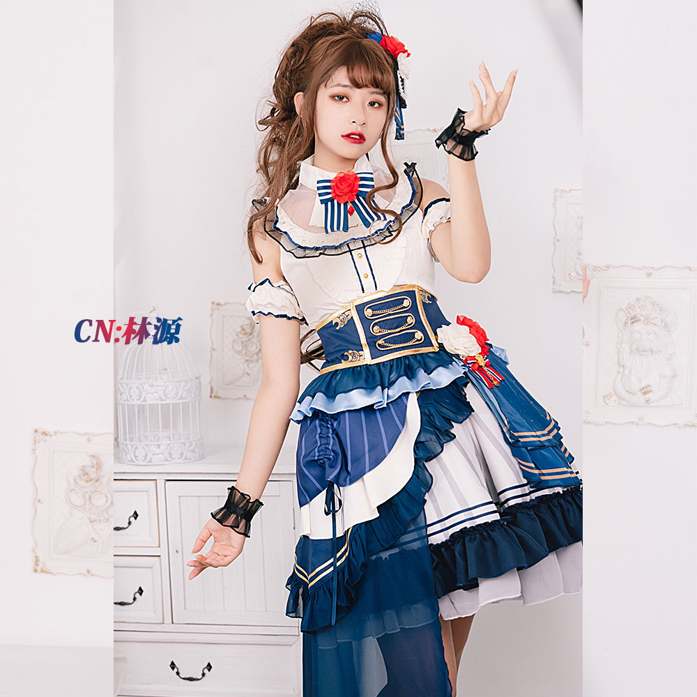 画像1: 激安!! BanG Dream!(バンドリ) Roselia ノーブル・ローズ/2周年 今井リサ コスプレ衣装 (1)