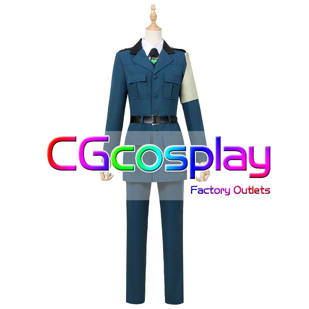 画像1: 激安!! 幼女戦記 合州国義勇兵 准尉 メアリー コスプレ衣装 (1)