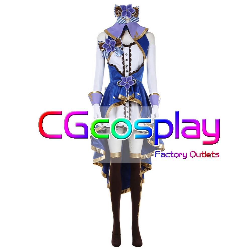 画像1: 激安!! THE IDOLM@STER CINDERELLA GIRLS 渋谷凛 ステージオブマジック(SSR) コスプレ衣装 (1)