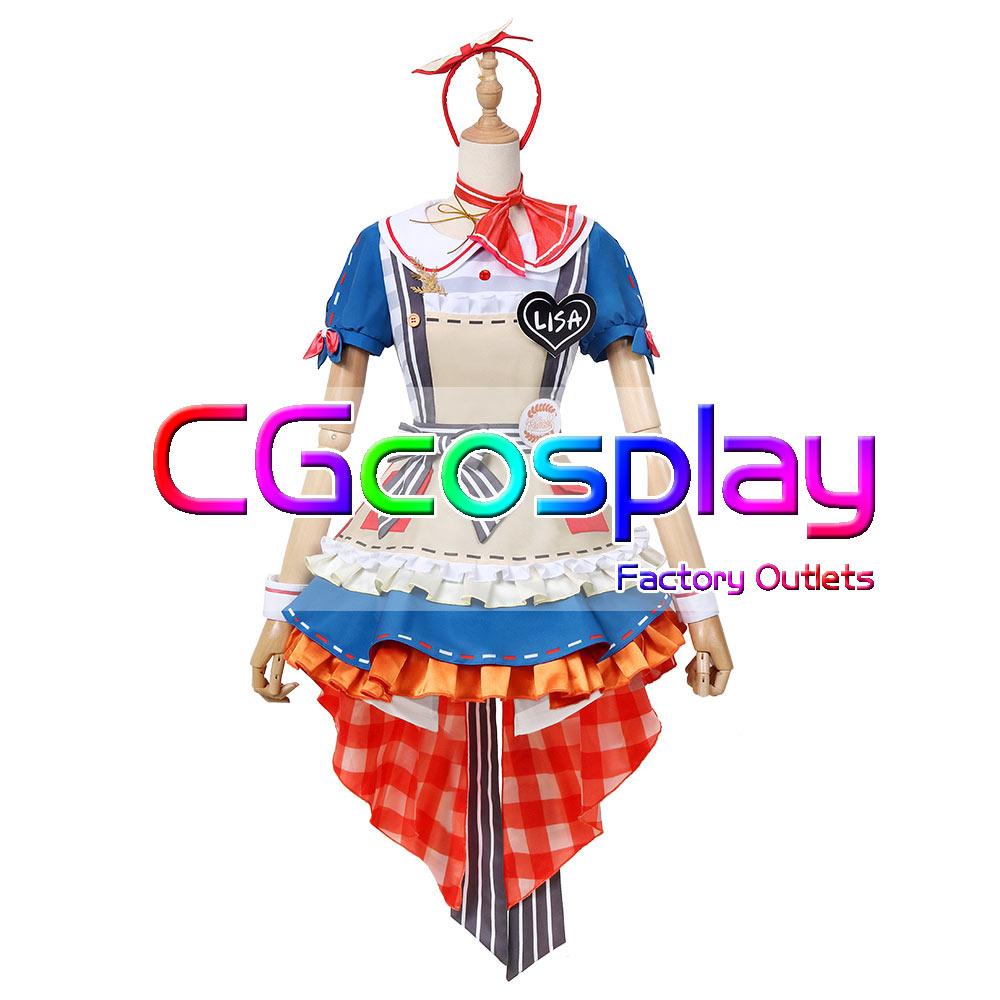 画像1: 激安!! BanG Dream!(バンドリ!) Roselia 近づく距離 今井リサ コスプレ衣装 (1)