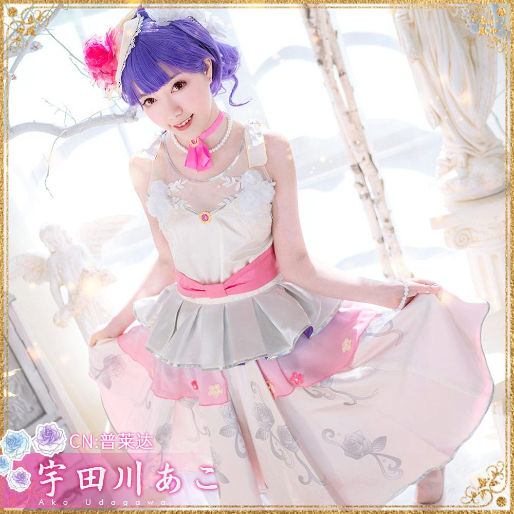画像1: 激安!! BanG Dream!(バンドリ!) Roselia 単独ライブキービジュアル 気づかいの空回り 宇田川あこ  コスプレ衣装 (1)