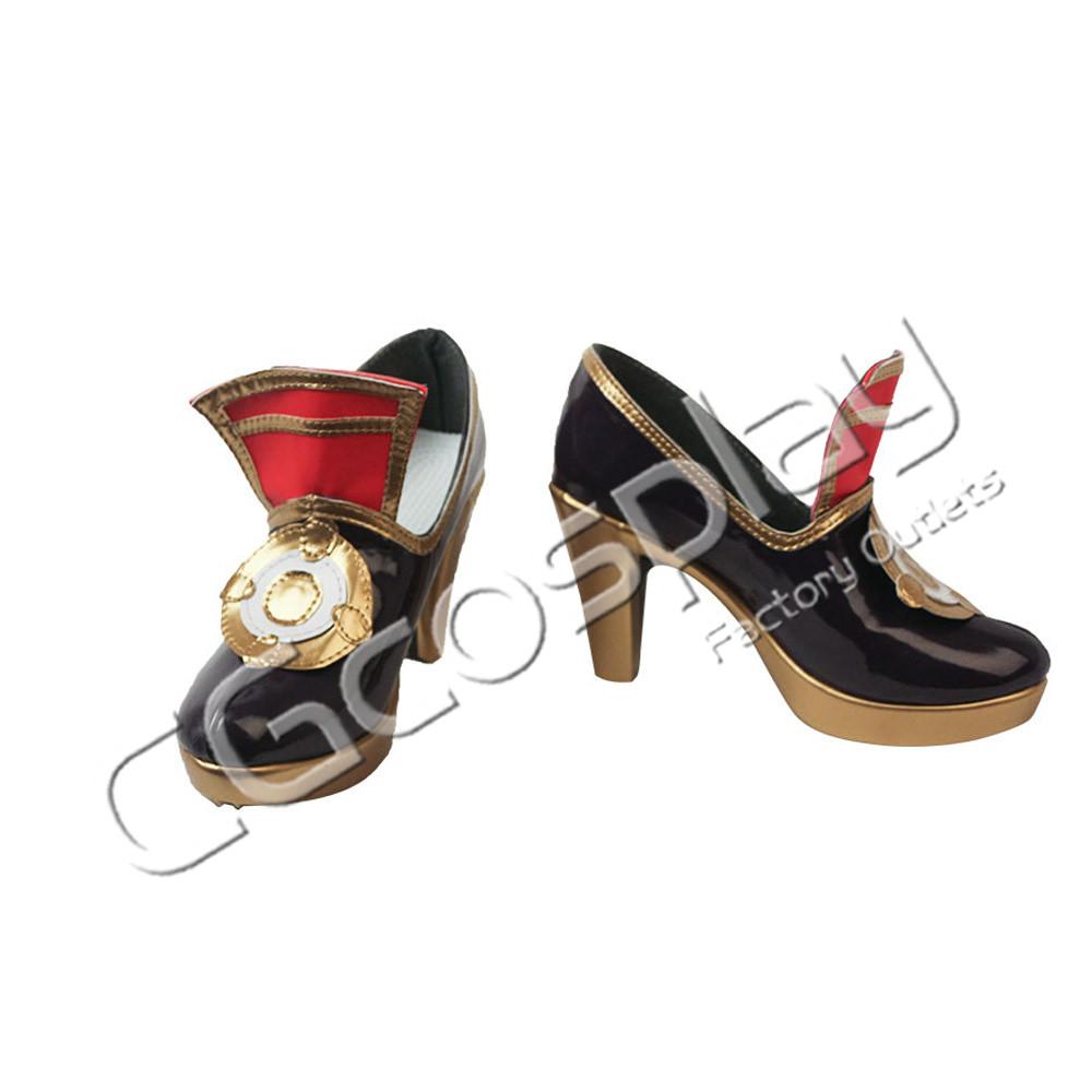 画像1: 激安!! 本格幻想RPG 陰陽師 百目鬼 コスプレ靴/ブーツ コスプレ衣装 (1)