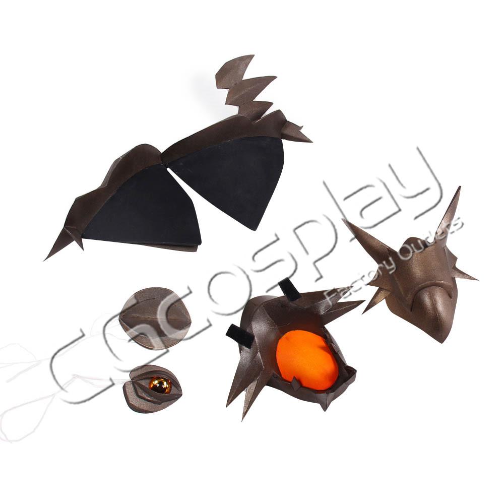 画像1: 激安!! クイーンズブレイド 召喚士アルドラ 肩鎧 頭飾り アイマスク コスプレ道具 コスプレ衣装 (1)