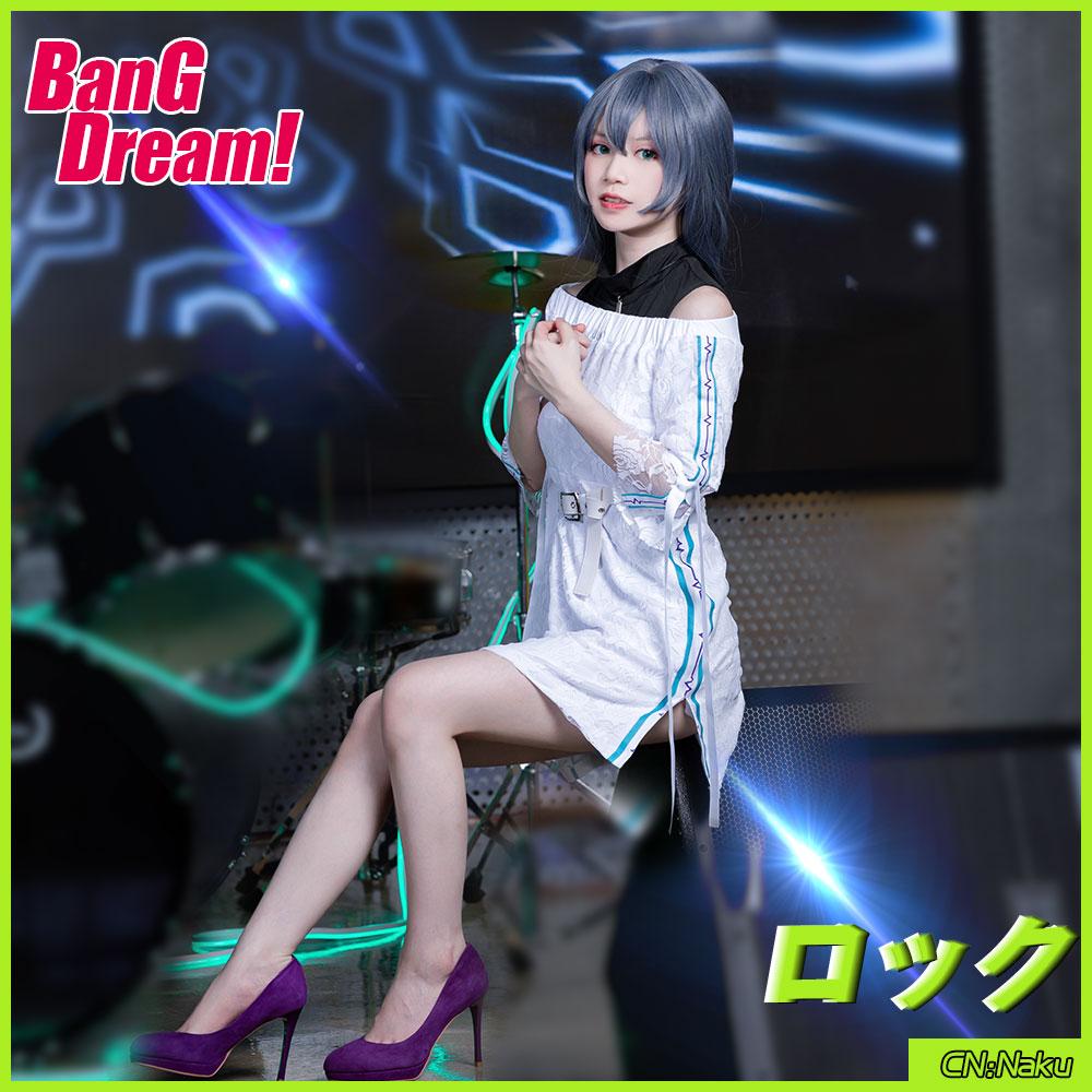 画像1: 激安!! BanG Dream!(バンドリ!) 7th☆LIVE RAISE A SUILEN 朝日 六花 コスプレ衣装 (1)