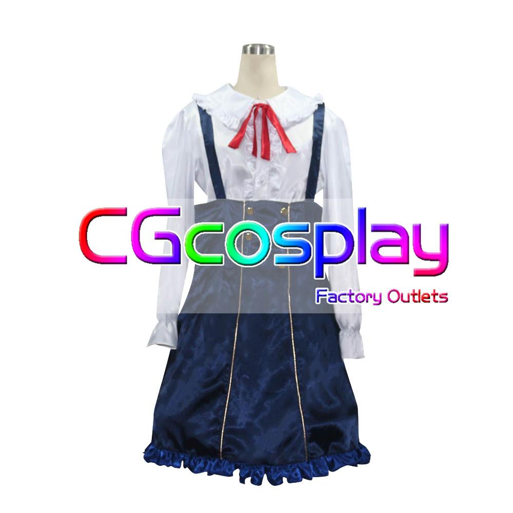 画像1: 激安!! ミリオンライブ! 桜守歌織 コスプレ衣装  (1)