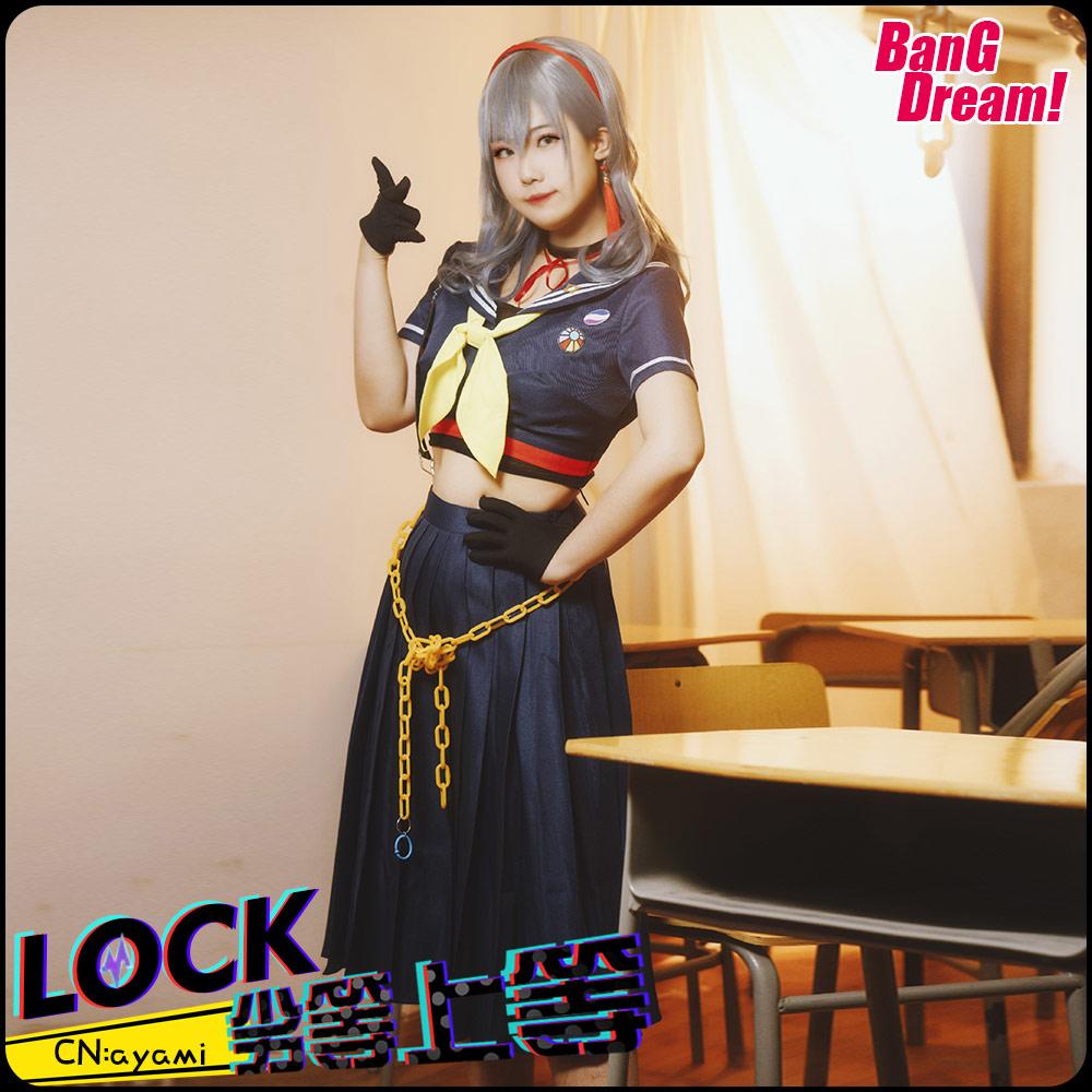画像1: 激安!! BanG Dream!(バンドリ!) ガルパ×初音ミクコラボ  RAISE A SUILEN RAS 劣等上等 ロック コスプレ衣装 (1)