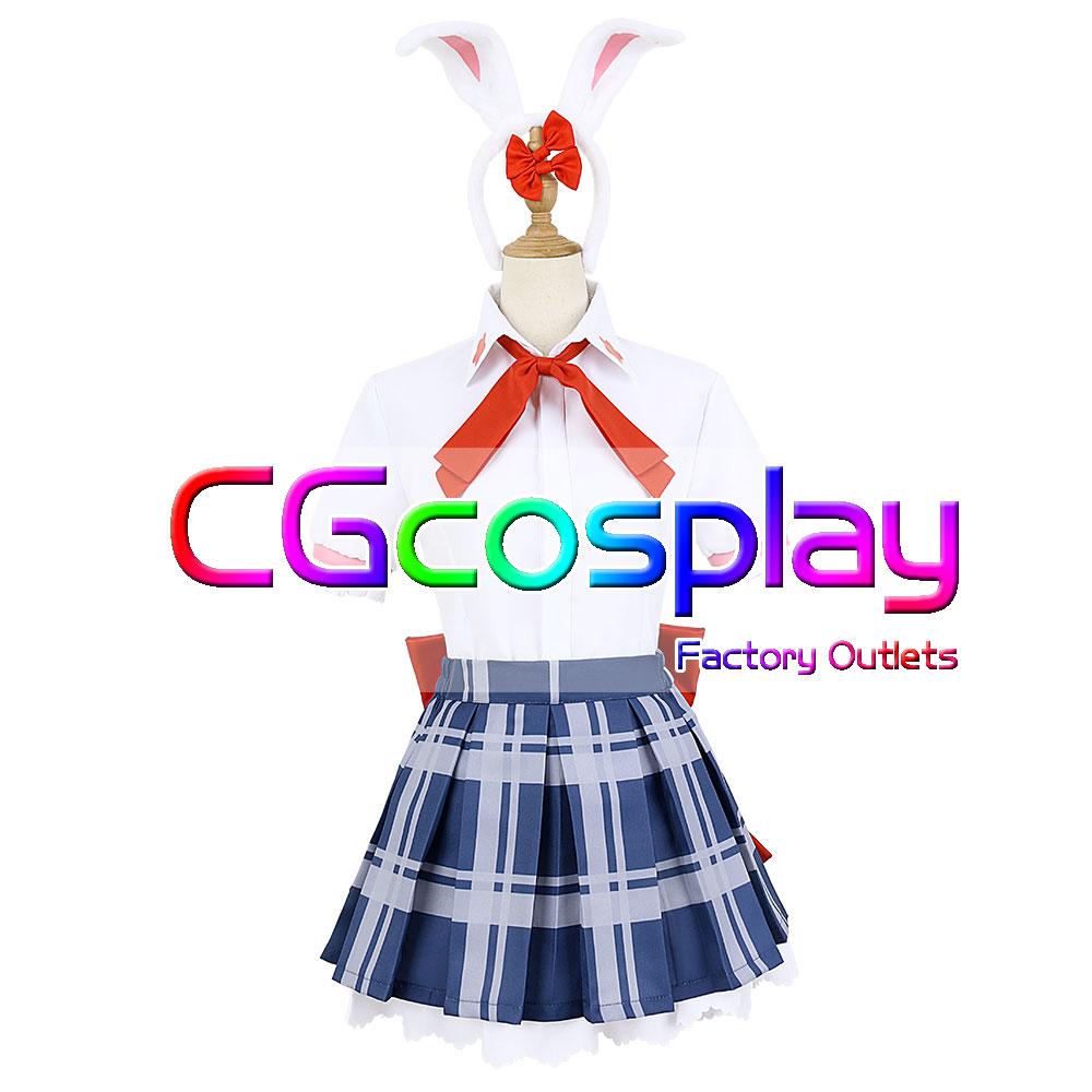 画像1: 激安!! D4DJ 陽葉学園 制服 Happy Around! 大鳴門 むに 夏服 コスプレ衣装 (1)