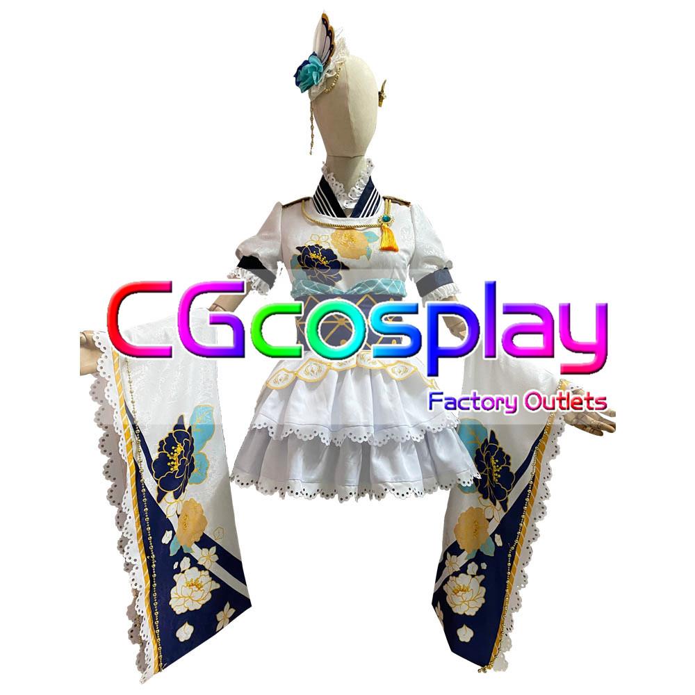 画像1: 激安!! ラブライブスクールアイドルフェスティバル 三船栞子 決意の光 コスプレ衣装 (1)