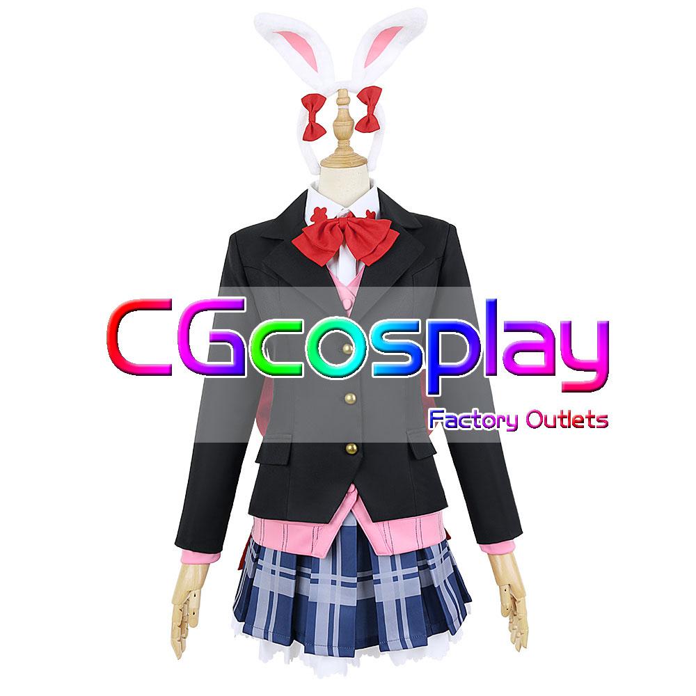 画像1: 激安!! D4DJ 陽葉学園 制服 Happy Around! 大鳴門 むに 冬服 コスプレ衣装 (1)