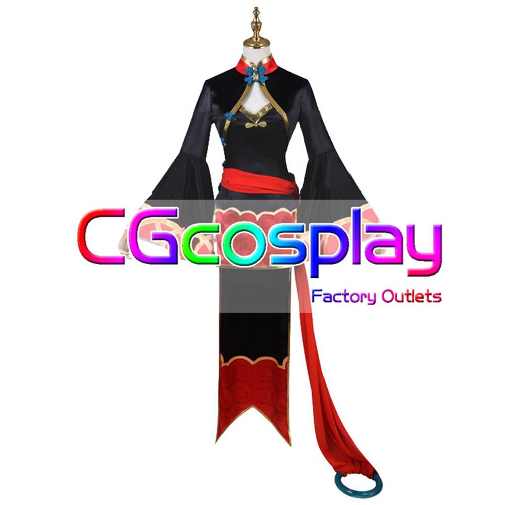 画像1: 激安!! Fate/Grand Order FGO 酒呑童子 4周年英霊礼装(キョンシー) コスプレ衣装 (1)
