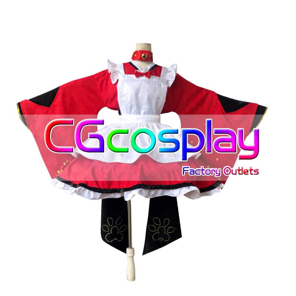 画像1: 激安!! Fate/Grand Order フェイト・グランドオーダー FGO 玉藻の前 メイド コスプレ衣装 (1)