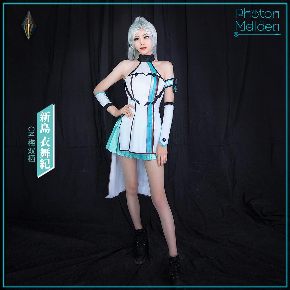 画像1: 激安!! D4DJ Photon Maiden 新島 衣舞紀 コスプレ衣装 (1)