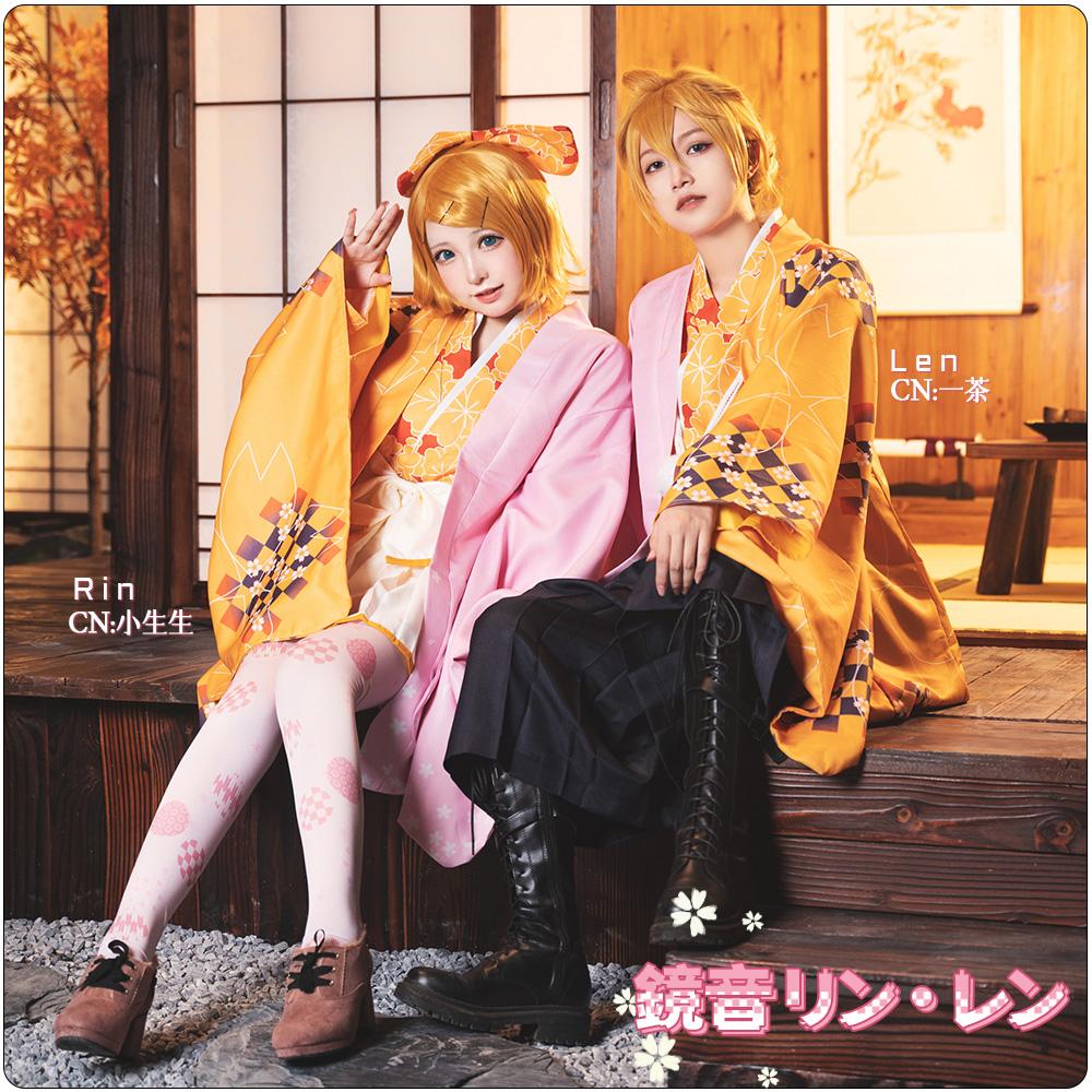 画像1: 激安!! 桜ミク 鏡音レン  鏡音リン コスプレ衣装 (1)